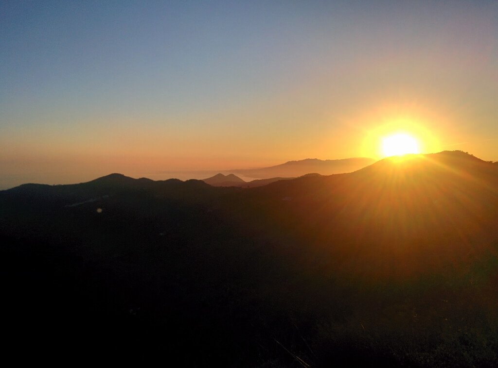Mountain biking in Malaga - sunset