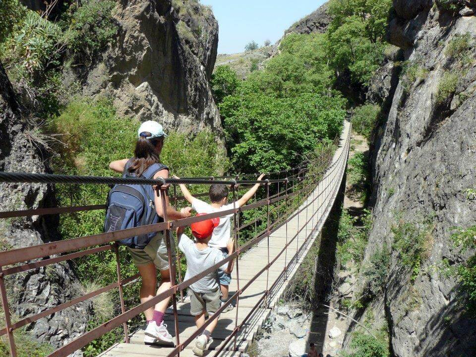 Walking the hanging bridges of Monachil, Granada