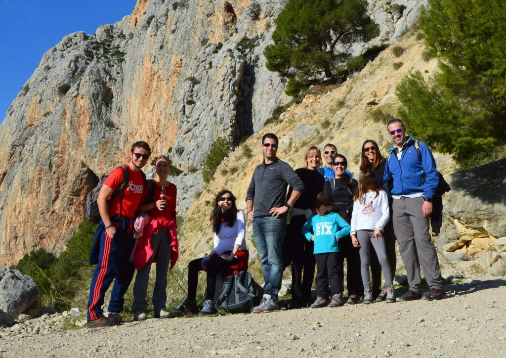 Hiking group - El Chorro - the start