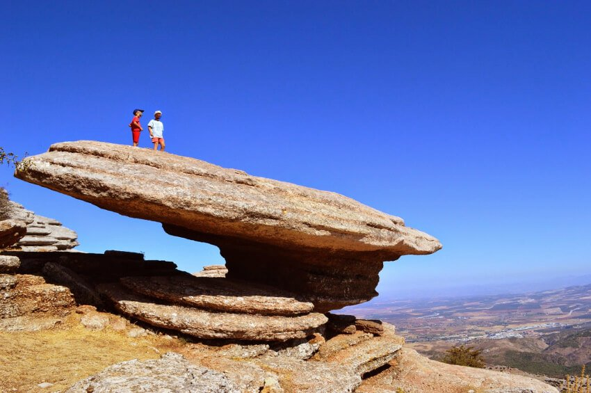 children hiking el torcal antequera