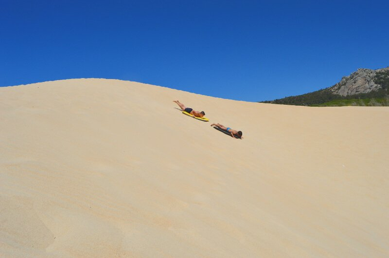 Surfing Spain's largest sand dune in Bolonia